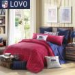 lovo罗莱家纺出品床上用品床单全纯棉四件