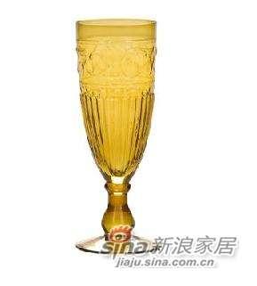 harbor house琥珀色花纹玻璃杯-4件装 -0