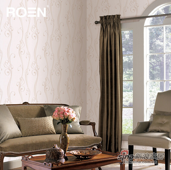 柔然壁纸欧式花纹高级树脂压花时尚色系韩国进口墙纸-0