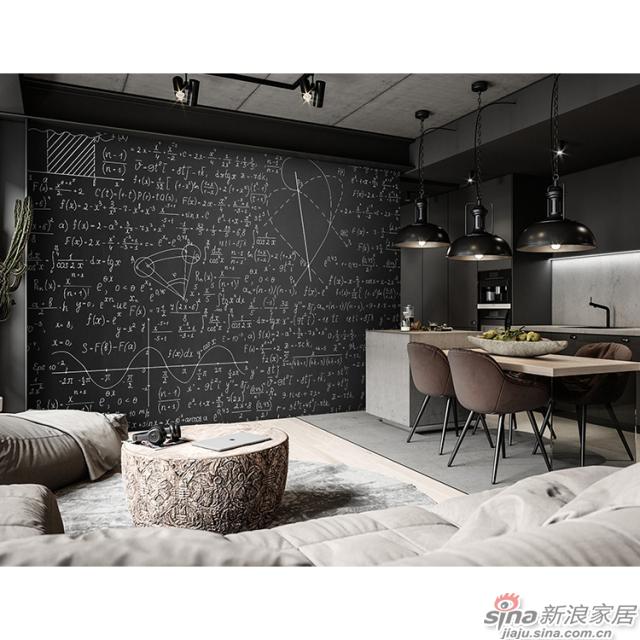 黑板_怀旧黑白数学公式图案壁画办公室\大厅壁画背景墙_JCC天洋墙布