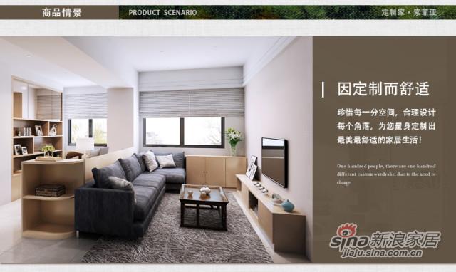 索菲亚衣柜-简约现代客厅定制 创意家具组合设计-0