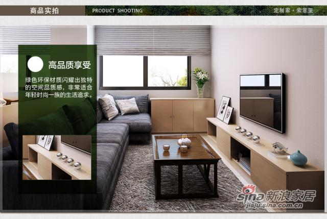 索菲亚衣柜-简约现代客厅定制 创意家具组合设计-2