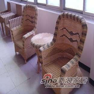 凰家御器藤椅藤家具三件套休闲椅阳台椅NH-A066-0