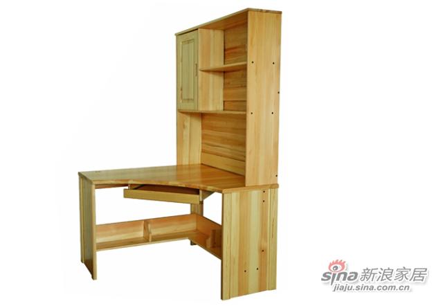 艾森木业名松屋松木书房系列全实木组合转角书桌 -2