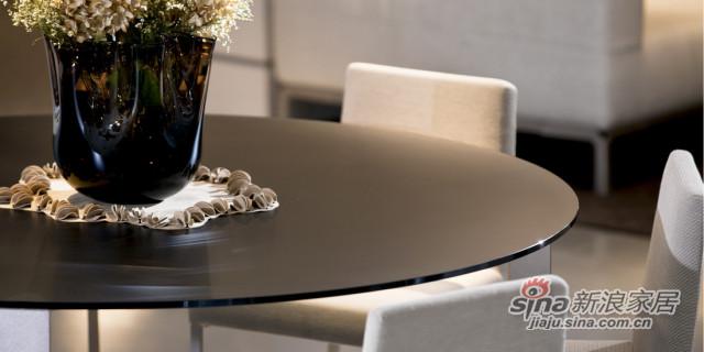 迪信DFT5656 玻璃圆餐台