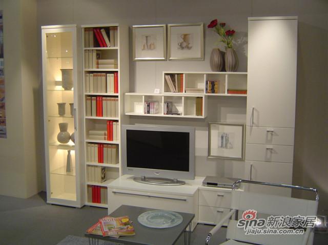 客厅和卧室都可摆放的书柜+电视柜