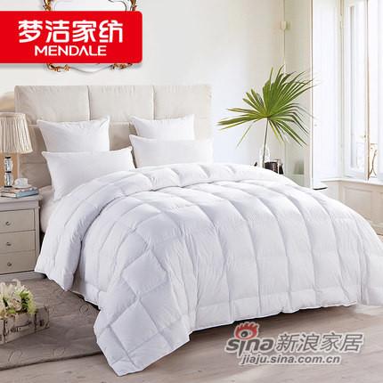 梦洁家纺 90%含绒 暖芯被 白鸭绒厚被 -0