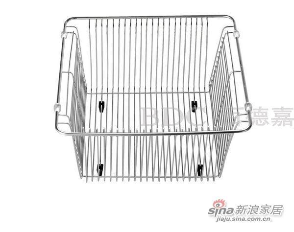 百德嘉五金龙头挂件-H766006不锈钢沥水篮-0