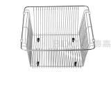 百德嘉五金龙头挂件-H766006不锈钢沥水篮