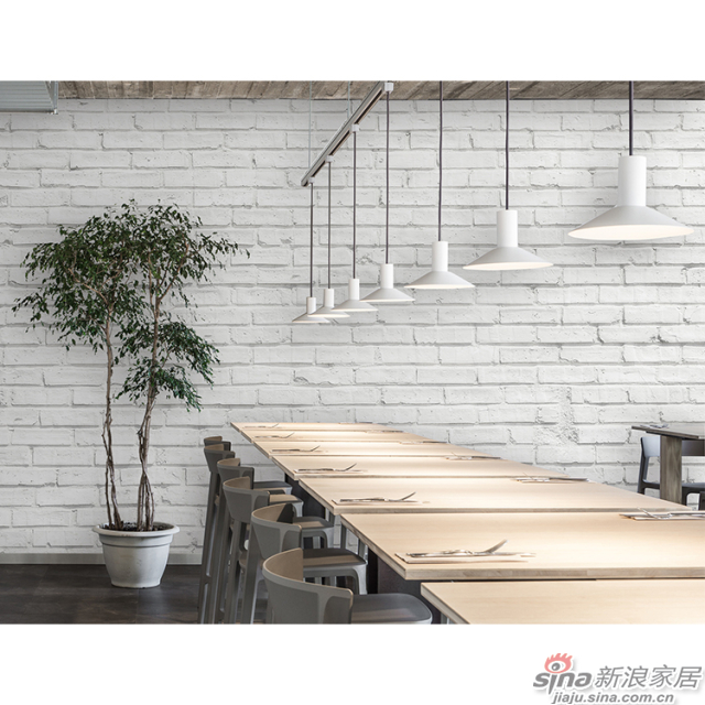 白砖_古法石砌的白色砖墙图案壁画办公室\大厅壁画背景墙_JCC天洋墙布