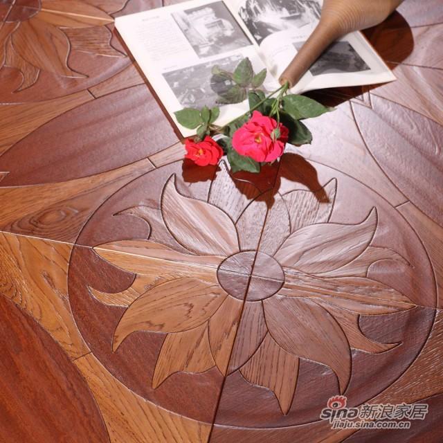 瑞澄地板--多层拼花系列--碳化栎木RCPH-0508道具图01-0