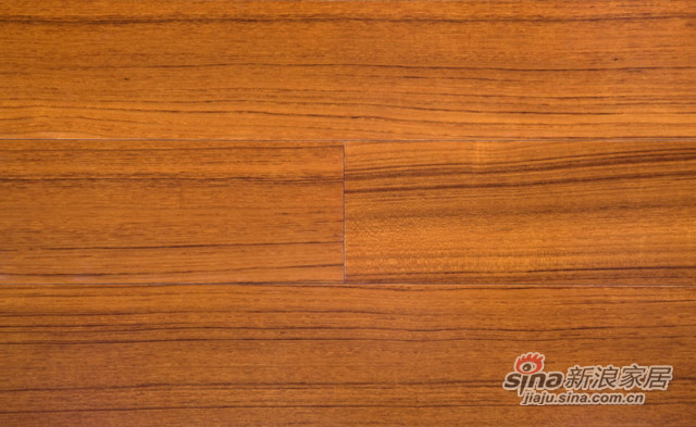 卡尔顿系列黑金线柚木实木地板