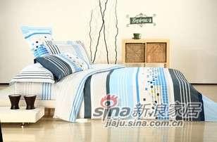 富安娜床品套件全棉斜纹床单四件套星际 -0
