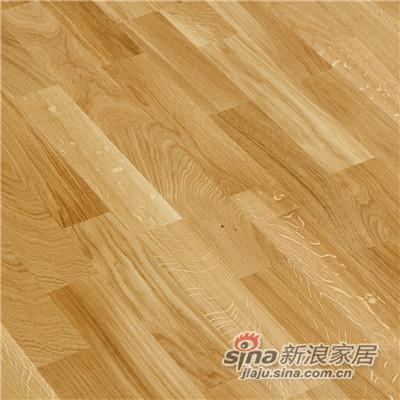 德合家BEFAG三层实木复合地板B55601三拼乡村橡木-1