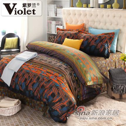 紫罗兰家纺 纯棉斜纹活性印花床品四套件-0