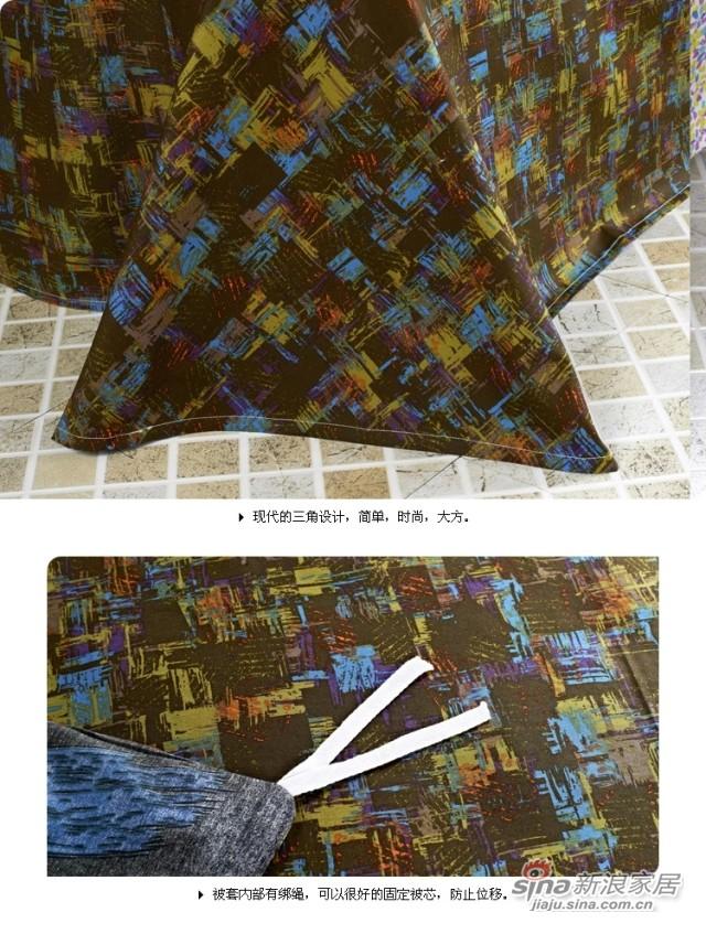 紫罗兰家纺 纯棉斜纹活性印花床品四套件-3