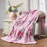 水星家纺 冬季加厚双层拉舍尔温馨宜人盖毯