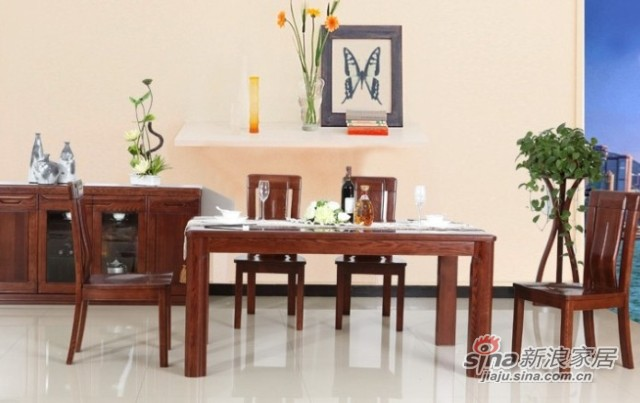 光明进口水曲柳实木餐桌