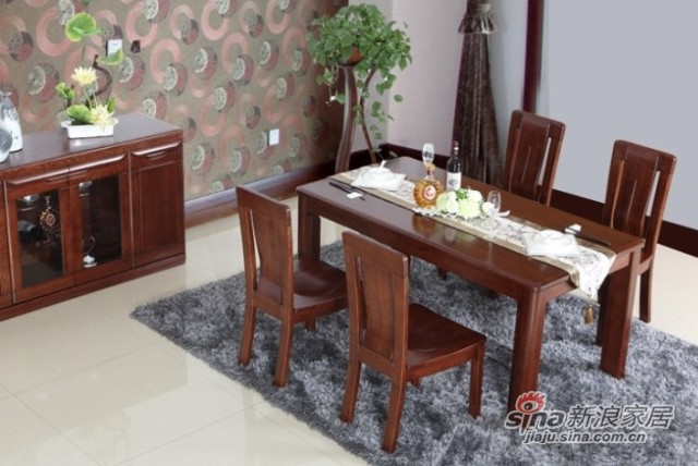 光明进口水曲柳实木餐桌-2