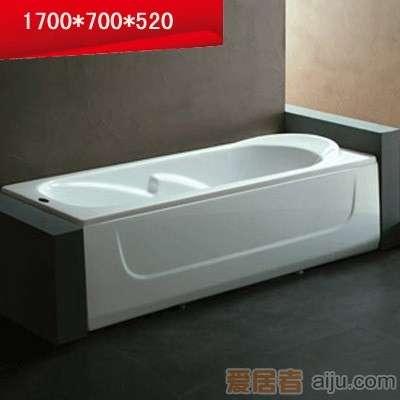 法恩莎单裙浴缸-F1716Q不含去水(1700*700*520mm)1