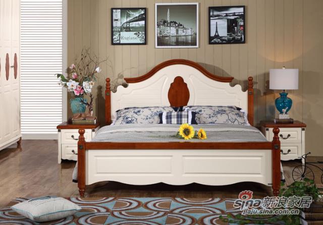九天家私家具橡木大床-1