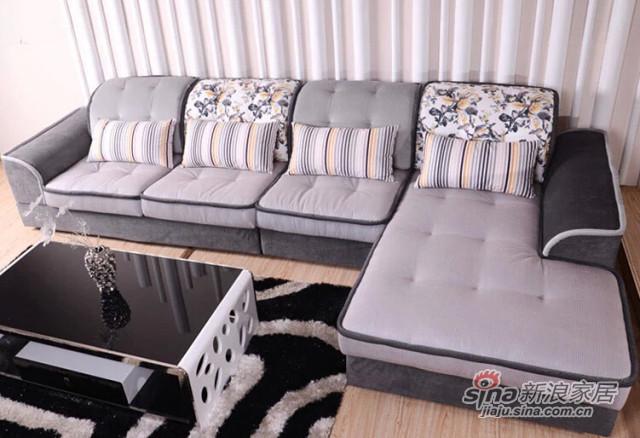 蓝鸟家具 布艺沙发组合沙发可拆洗沙发 可定制LN-BY-0098