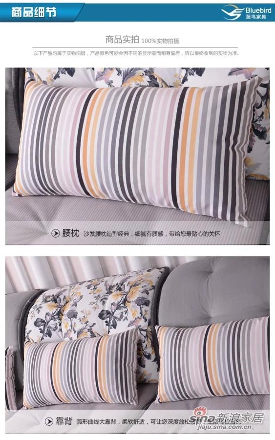 蓝鸟家具 布艺沙发组合沙发可拆洗沙发 可定制LN-BY-0098-3