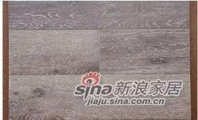 四合地板三层实木复合地板白栎墨纹色