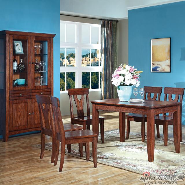 巴克庄园S5058#餐桌、S5064#餐椅、S5037#双门酒柜、S5066#多功能柜