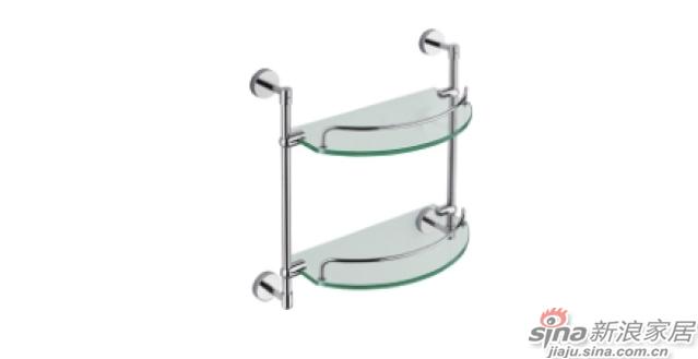 SM3208双层玻璃置物架