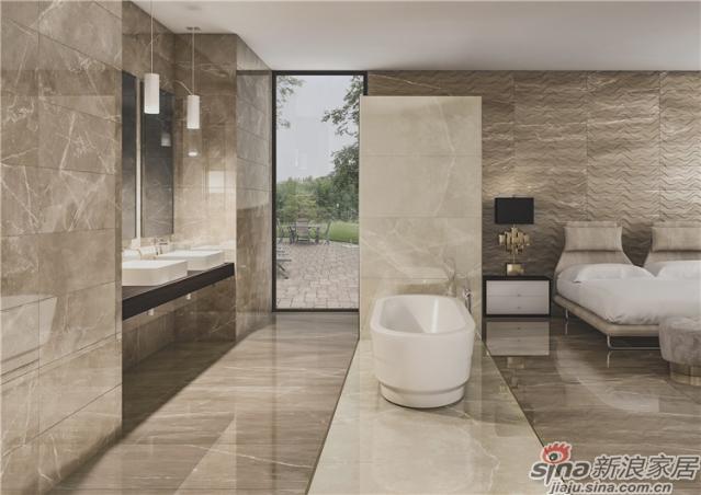 CROTONE 卡塔尔系列的瓷砖是1600x3200mm大规格设计,来源于大自然的棕色还原一种天然的魅力,硬朗的外表让人感觉非常的坚固耐用。