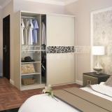 科凡整体板式现代简约移门收纳衣橱 卧室简易组装定制大衣柜CY010