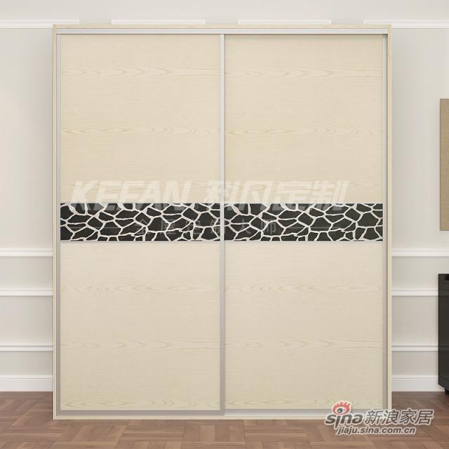 科凡整体板式现代简约移门收纳衣橱 卧室简易组装定制大衣柜CY010-3