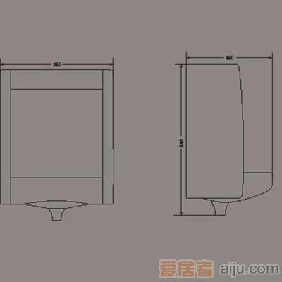 惠达小便器-U718B2