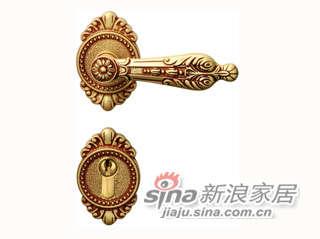 雅洁AS2011-C1916-92英文45抛铜锁体+英文70铜锁胆-0