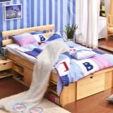 喜梦宝实木床1.35米实木高箱床