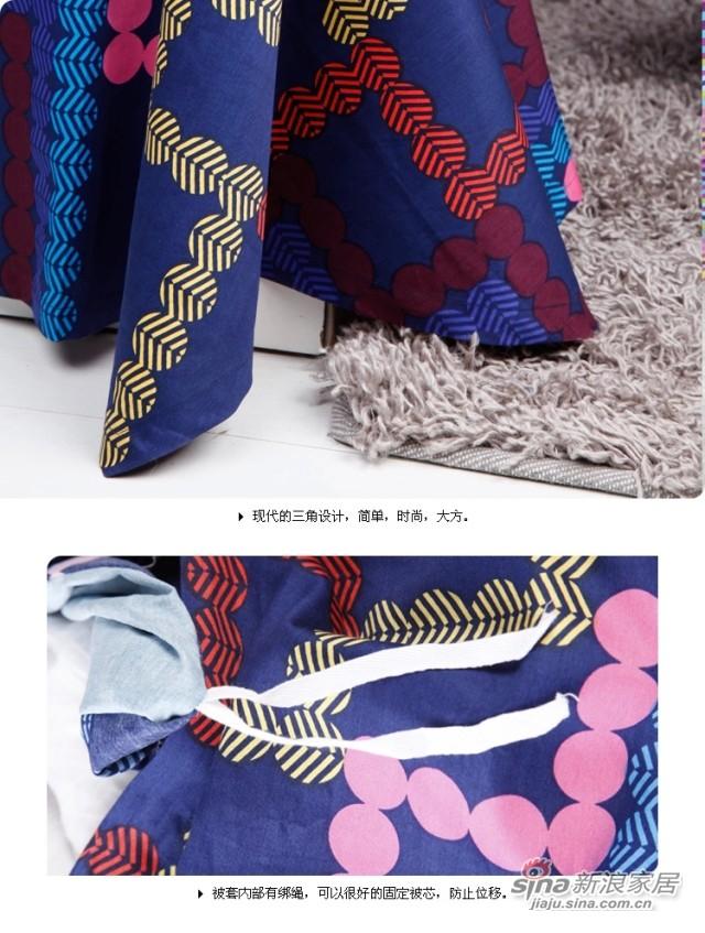 紫罗兰家纺 纯棉斜纹卡通四件套床单式套件-3