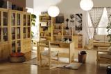 艾森木业名松屋松木书房系列全实木组合书桌