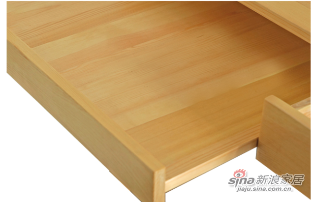 艾森木业名松屋松木书房系列全实木组合书桌-3
