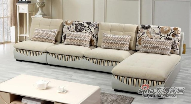 三叶家私可拆洗布艺沙发组合