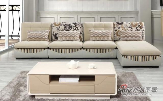 三叶家私可拆洗布艺沙发组合-1