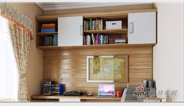 索菲亚衣柜-简欧式书房家具定制-3
