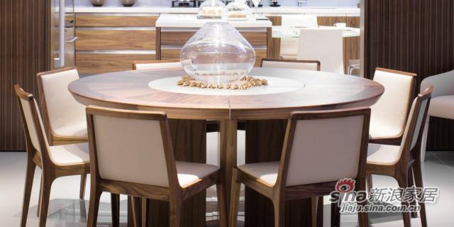 迪信DFT6262 木面圆餐台-0