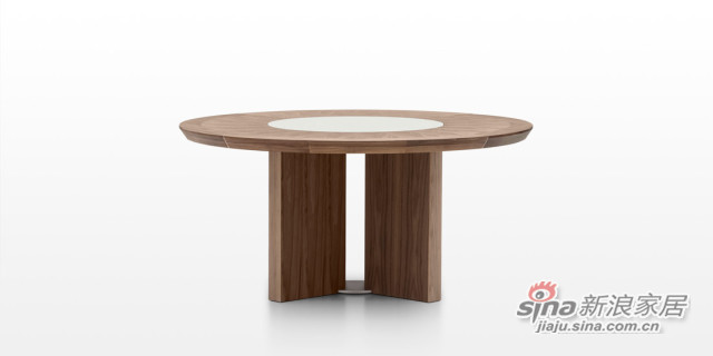 迪信DFT6262 木面圆餐台-1