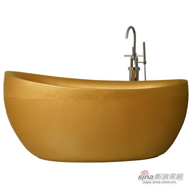 金色珠光板按摩冲浪浴缸-0