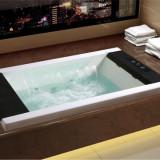 九牧嵌入式方形按摩浴缸