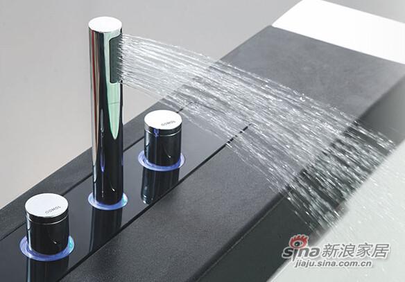 九牧嵌入式方形按摩浴缸-2