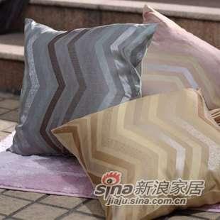 罗莱家纺―床上用品家居系列-SH226时尚波纹靠垫50*50cm-0