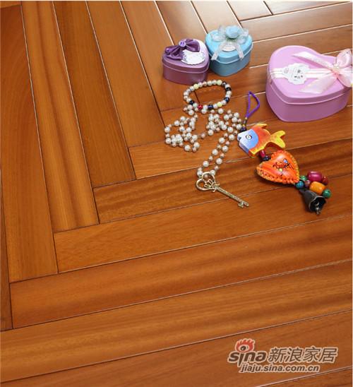 安信乳桑木人字拼实木地板