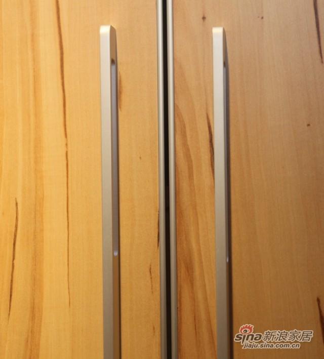 迈格家具 四门衣柜SA20SA 苹果木 灰-1